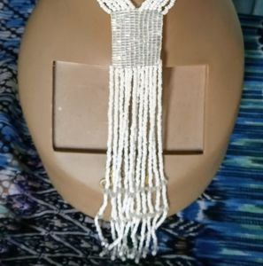 Faux Pearl Dangling Necklace